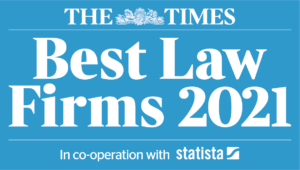 Brady Solicitors is a Times top 200 Law Firm 2021